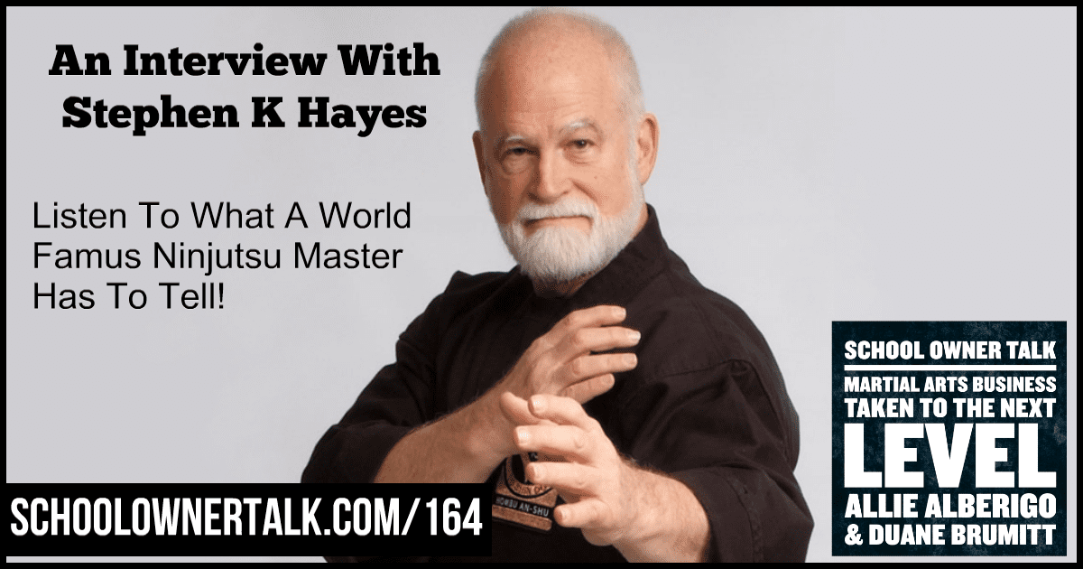An Interview with Stephen K Hayes – Episode #164