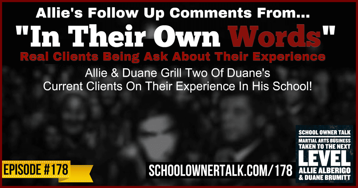 "Allie's Thoughts On The ""In Their Own Words"" Podcast – Episode #178"