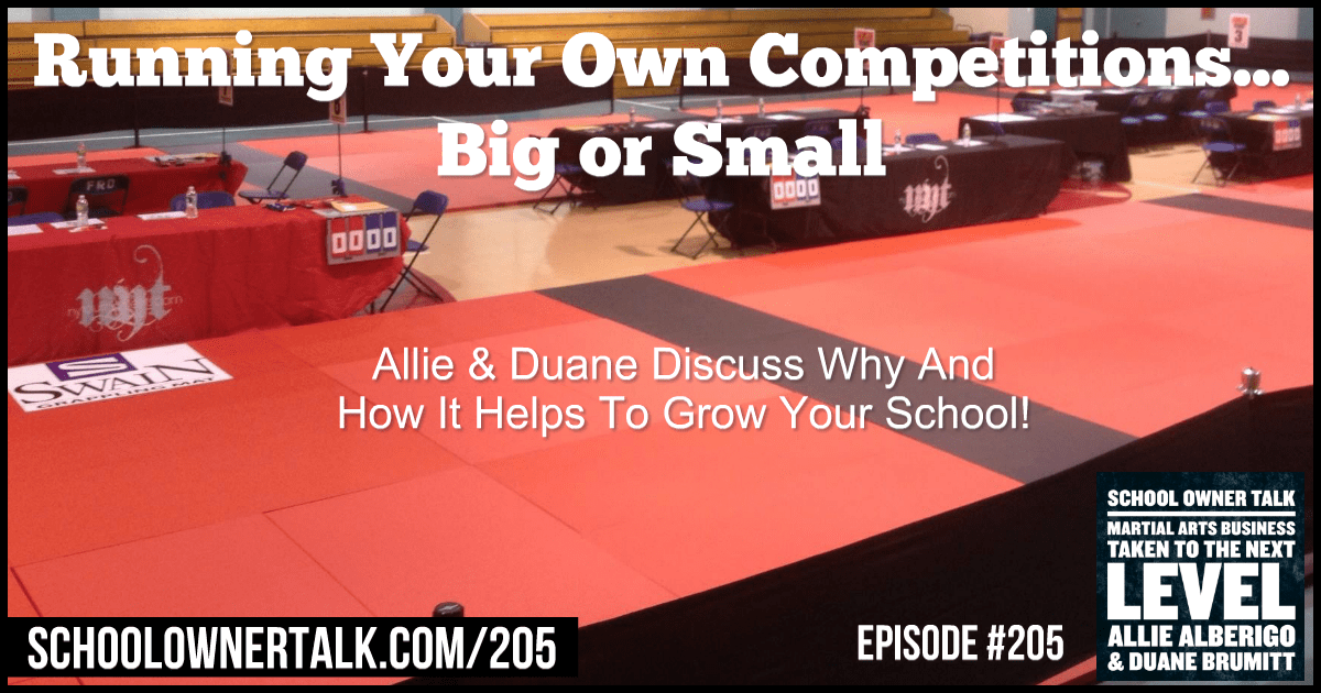 Running Your Own Competitions… Big or Small – Episode #205