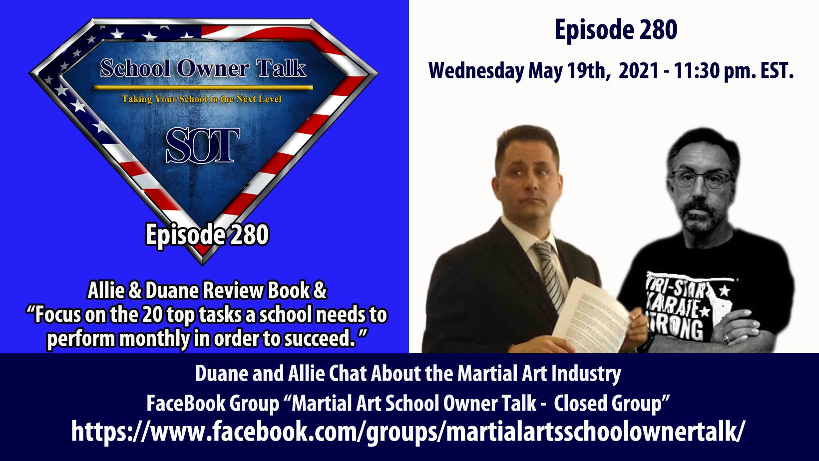 280 | Top 7 Tasks Needed For Success In Your Martial Arts School